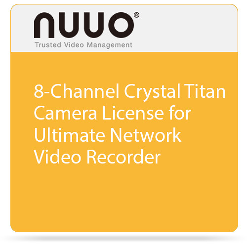 NUUO 8-Channel Crystal Titan Camera License for Ultimate Network Video Recorder