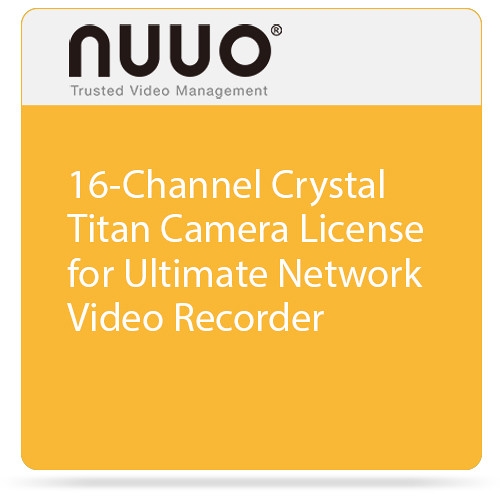 NUUO 16-Channel Crystal Titan Camera License for Ultimate Network Video Recorder