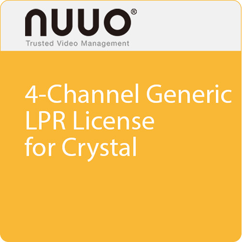 NUUO 4-Channel Generic LPR License for Crystal