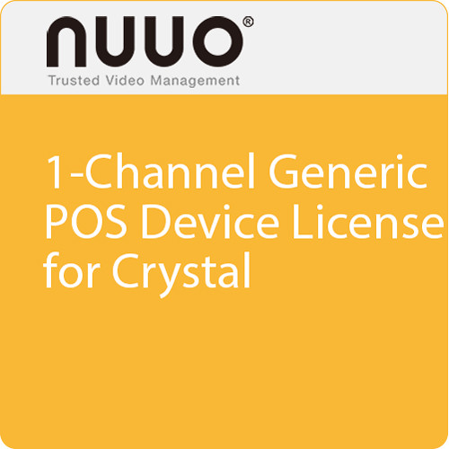 NUUO 1-Channel Generic POS Device License for Crystal