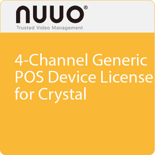 NUUO 4-Channel Generic POS Device License for Crystal