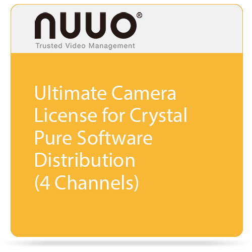 NUUO Ultimate Camera License for Crystal Pure Software Distribution (4 Channels)