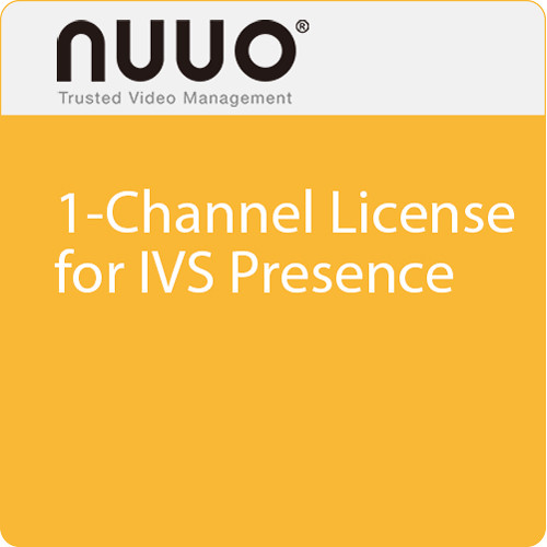 NUUO 1-Channel License for IVS Presence