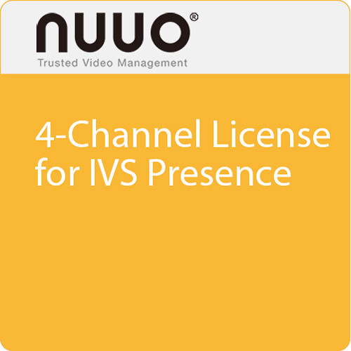 NUUO 4-Channel License for IVS Presence
