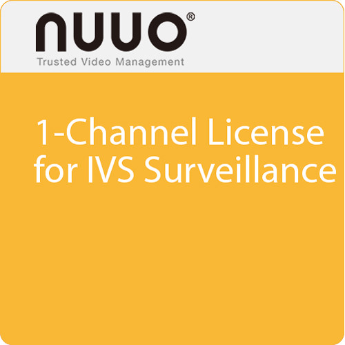 NUUO 1-Channel License for IVS Surveillance
