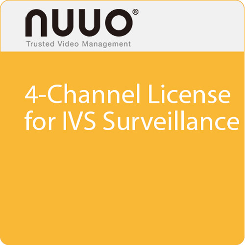 NUUO 4-Channel License for IVS Surveillance