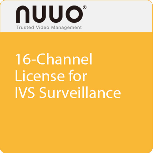 NUUO 16-Channel License for IVS Surveillance
