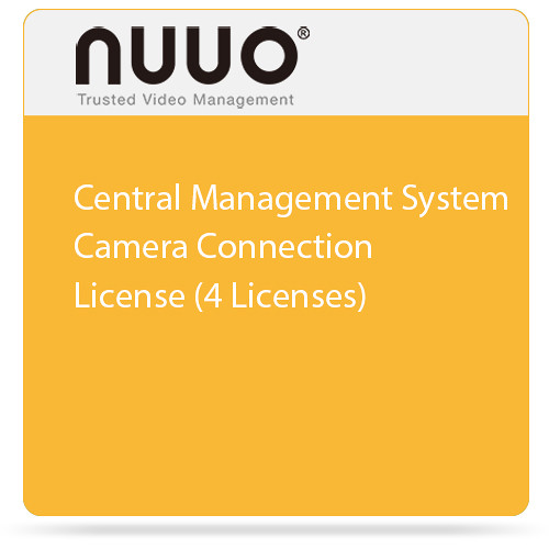 NUUO Central Management System Camera Connection License (4 Licenses)