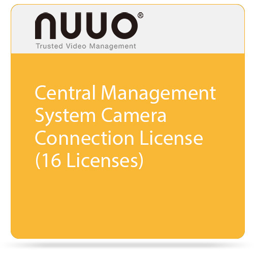 NUUO Central Management System Camera Connection License (16 Licenses)