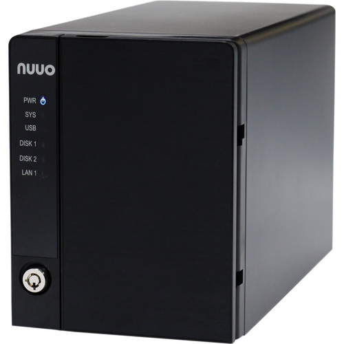NUUO NVRmini2 NE-2040 NVR and Server (4-Channel, 2 Drive Bays, 3TB)