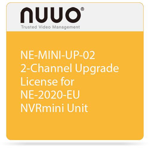 NUUO NE-MINI-UP-02 2-Channel Upgrade License for NE-2020-EU NVRmini Unit