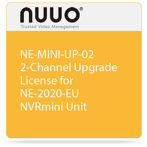 NUUO NE-MINI-UP-02 2-Channel Upgrade License for NE-2020-EU NVRmini Unit