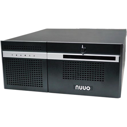 NUUO NH-4500-ENT 64-Channel 6-Bay 4U Hybrid NVR with Redundant Power Supply (24TB)