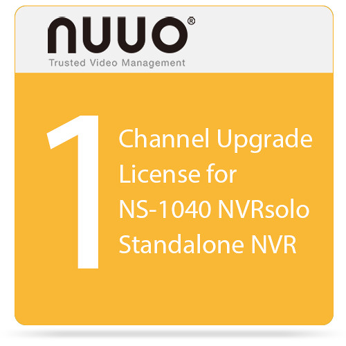 NUUO 1-Channel Upgrade License for NS-1040 NVRsolo Standalone NVR