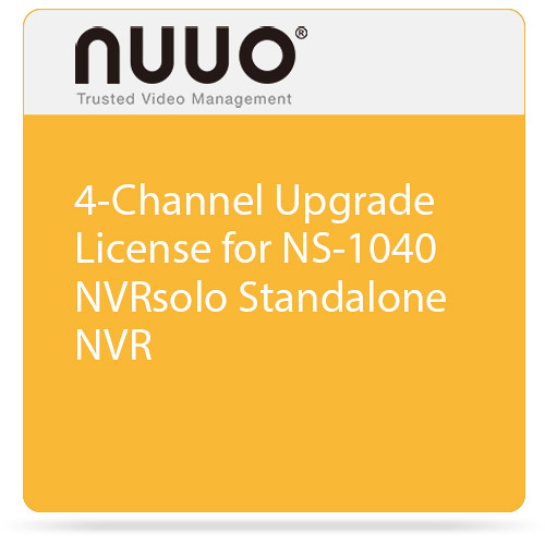 NUUO 4-Channel Upgrade License for NS-1040 NVRsolo Standalone NVR
