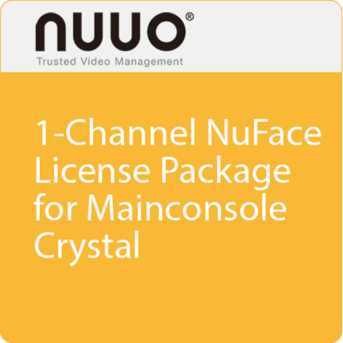 NUUO 1-Channel NuFace License Package for Mainconsole/Crystal