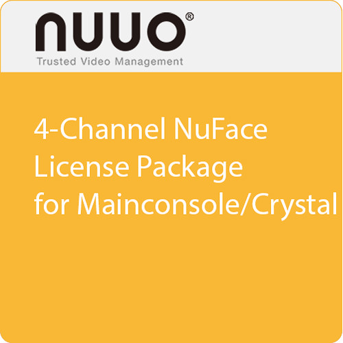NUUO 4-Channel NuFace License Package for Mainconsole/Crystal