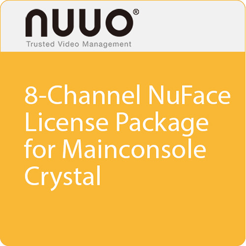 NUUO 8-Channel NuFace License Package for Mainconsole/Crystal