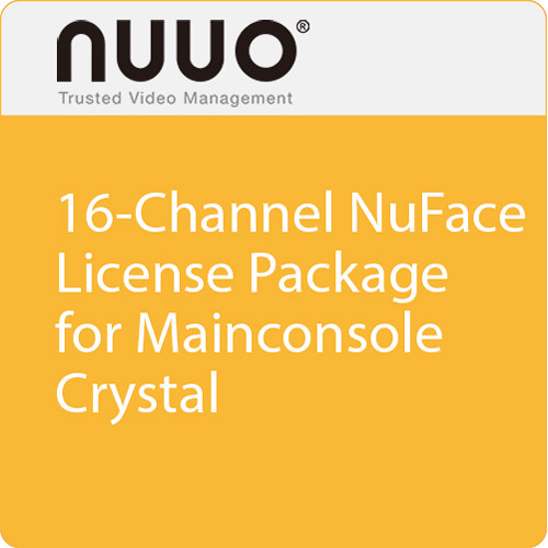 NUUO 16-Channel NuFace License Package for Mainconsole/Crystal