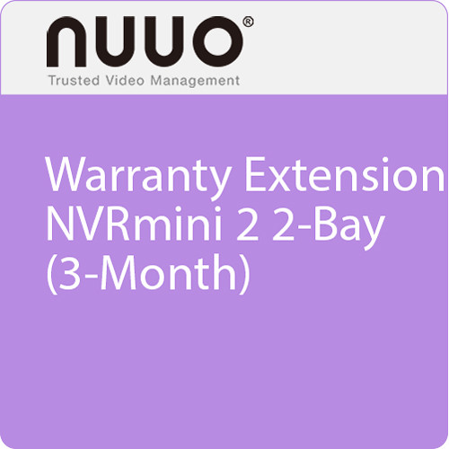 NUUO 3-Month Warranty Extension for NVRmini 2 2-Bay
