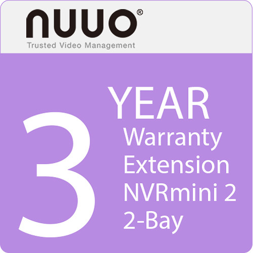 NUUO 3-Year Warranty Extension for NVRmini 2 2-Bay