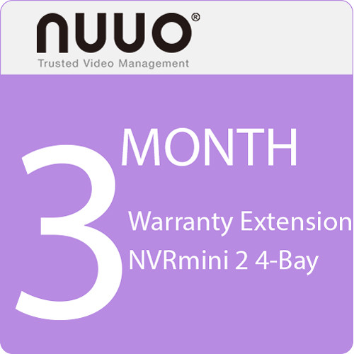 NUUO 3-Month Warranty Extension for NVRmini 2 4-Bay