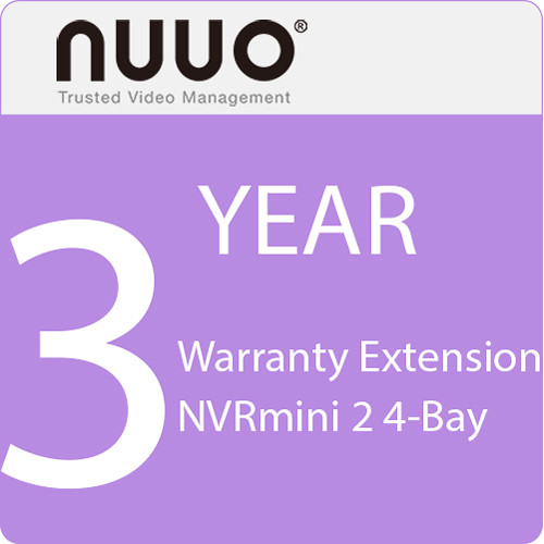 NUUO 3-Year Warranty Extension for NVRmini 2 4-Bay