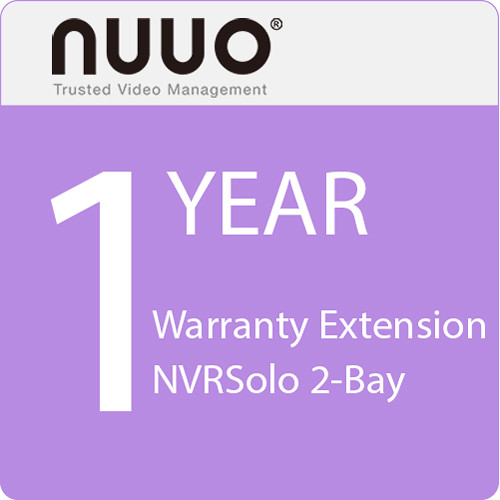 NUUO 1-Year Warranty Extension for NVRSolo 2-Bay