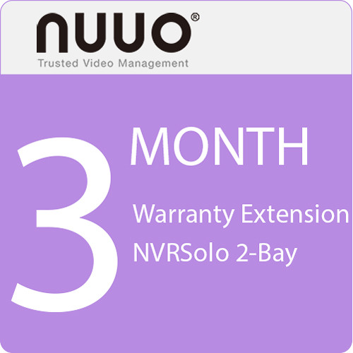 NUUO 3-Month Warranty Extension for NVRSolo 2-Bay