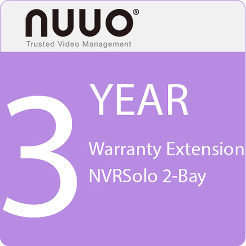 NUUO 3-Year Warranty Extension for NVRSolo 2-Bay
