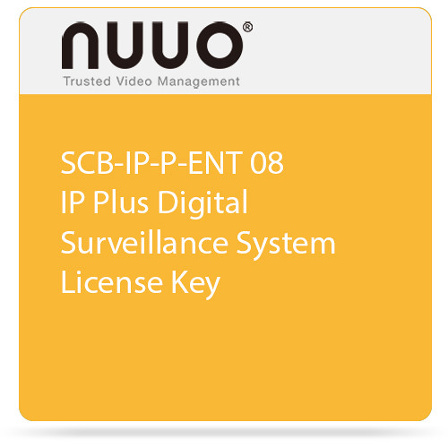 NUUO SCB-IP-P-ENT 08 IP Plus Digital Surveillance System License Key