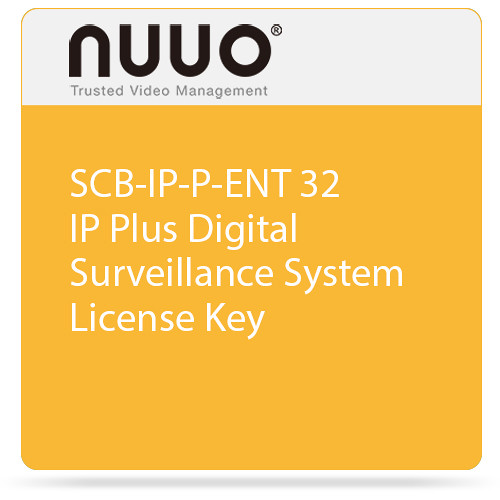 NUUO SCB-IP-P-ENT 32 IP Plus Digital Surveillance System License Key