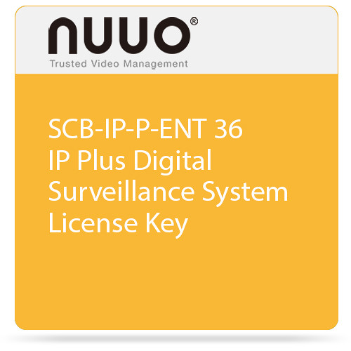 NUUO SCB-IP-P-ENT 36 IP Plus Digital Surveillance System License Key