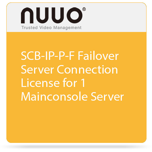 NUUO SCB-IP-P-F Failover Server Connection License for 1 Mainconsole Server