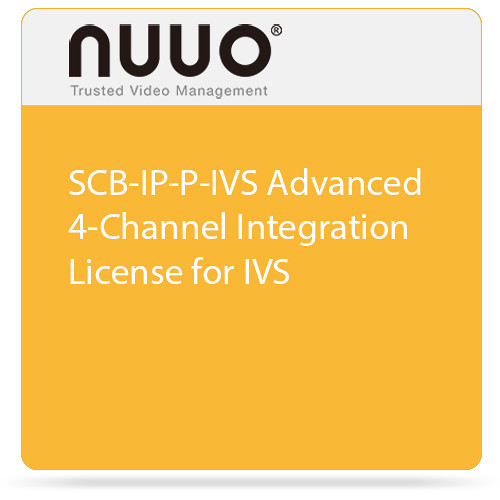 NUUO SCB-IP-P-IVS Advanced 4-Channel Integration License for IVS