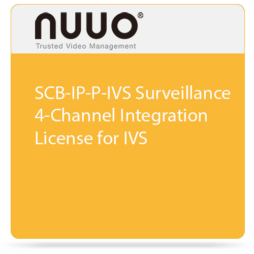NUUO SCB-IP-P-IVS Surveillance 4-Channel Integration License for IVS