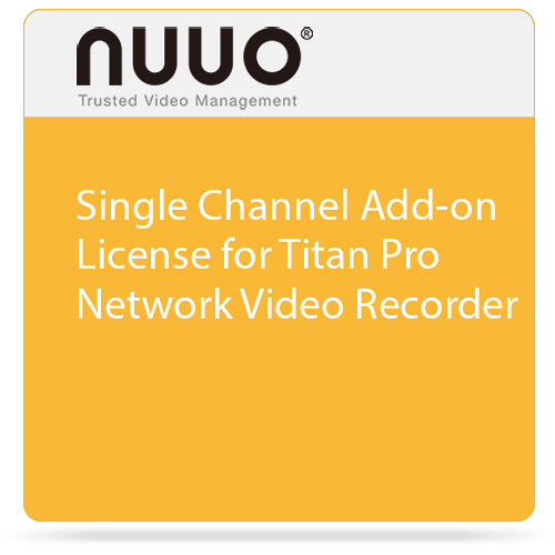 NUUO Single Channel Add-on License for Titan Pro Network Video Recorder