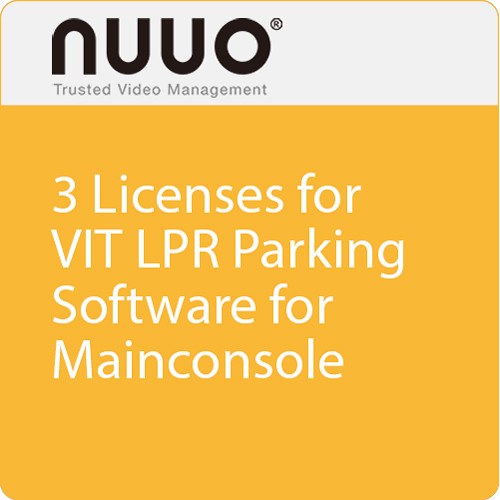 NUUO 3 Licenses for VIT LPR Parking Software Dongle for Mainconsole