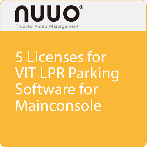 NUUO 5 Licenses for VIT LPR Parking Software Dongle for Mainconsole