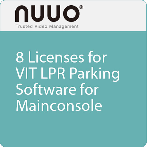 NUUO 8 Licenses for VIT LPR Parking Software for Mainconsole