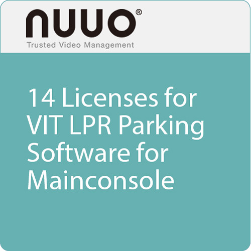 NUUO 14 Licenses for VIT LPR Parking Software Dongle for Mainconsole