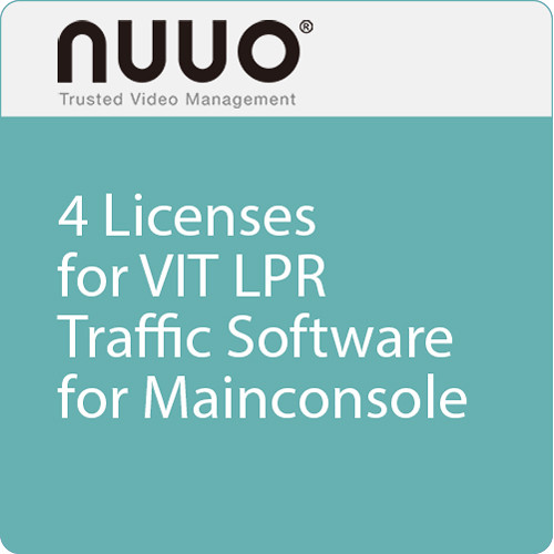 NUUO 4 Licenses for VIT LPR Traffic Software Dongle for Mainconsole