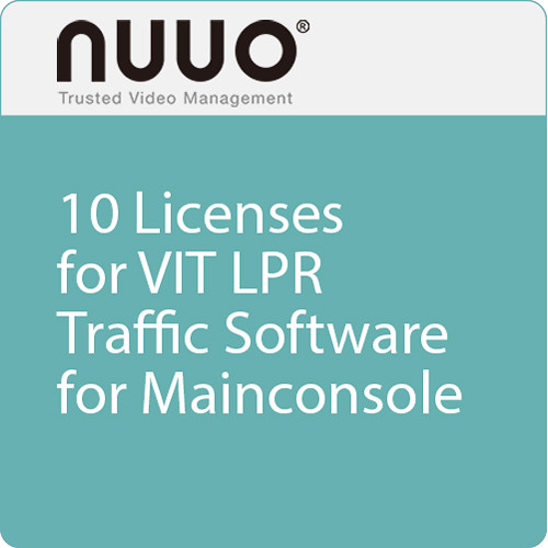 NUUO 10 Licenses for VIT LPR Traffic Software Dongle for Mainconsole