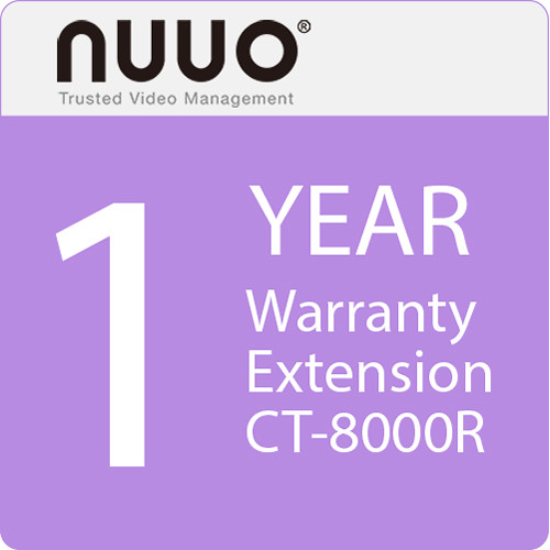 NUUO 1-Year Warranty Extension for CT-8000R Series