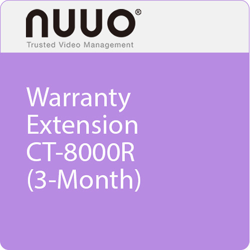 NUUO 3-Month Warranty Extension for CT-8000R Series