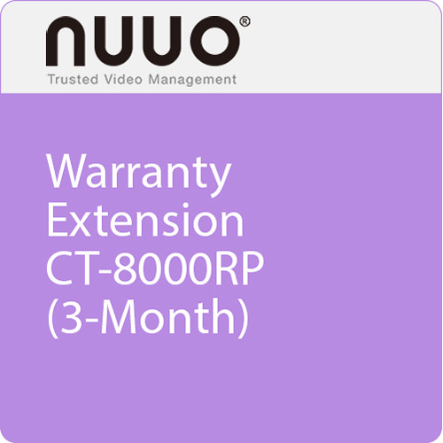 NUUO 3-Month Warranty Extension for CT-8000RP Series