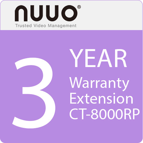 NUUO 3-Year Warranty Extension for CT-8000RP Series