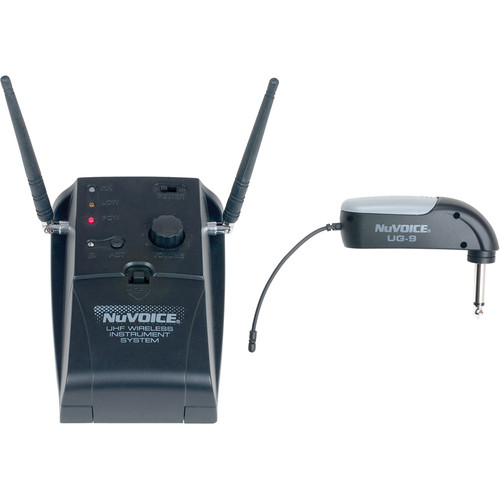 """NuVoice UG-9 Wireless Guitar System with Angled 1/4"""" Connector (900-925 MHz)"""