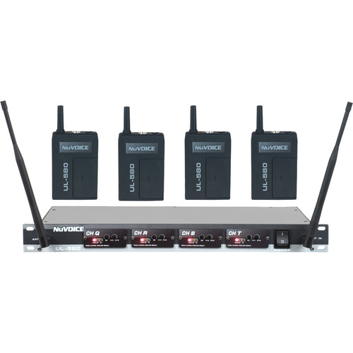 NuVoice UH-580 UHF Wireless Headset System (Frequency Set 3)