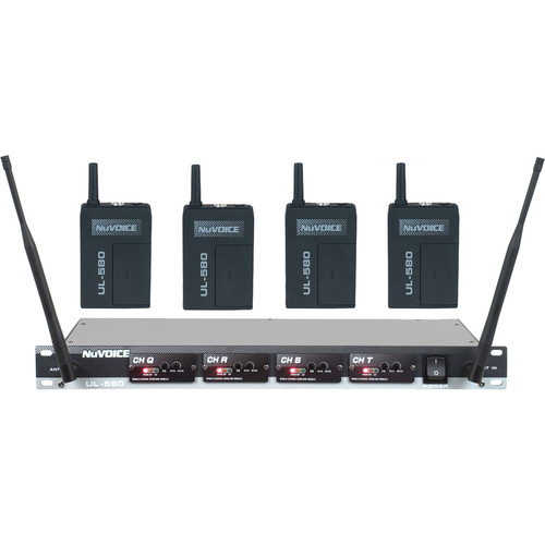 NuVoice UH-580 UHF Wireless Headset System (Frequency Set 4)